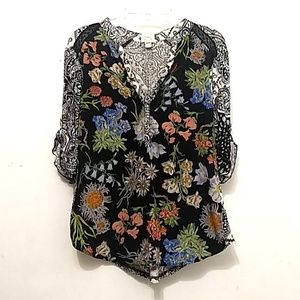 Anthropologie Tiny Floral Blouse Shirt